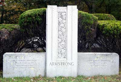 The Armstrong grave at Locust Grove Cemetery, Merrimac, Mass.