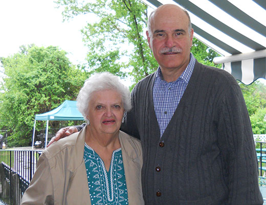 Marion Bergman (left) visits with Joseph S. Tavitian, LSW as the two discuss the storied history of Lakeview House