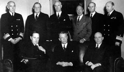 Dr. Frank Lahey of Haverhill, sitting center, knew President Franklin D. Roosevelt would die in office.