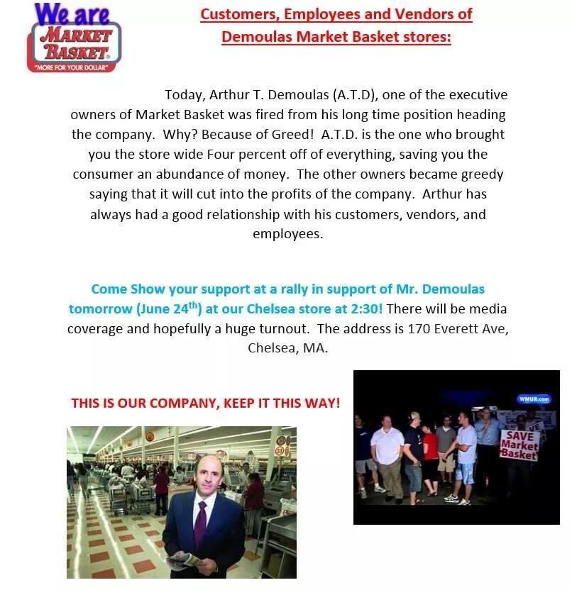Market Basket flyer