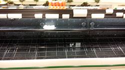 Empty shelves at Market Basket (Nathan E. Webster III photo)