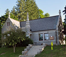 Buck Memorial Library was a gift from the family of Richard Buck, a descendant of Jonathan Buck.