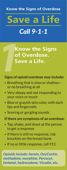 The Massachusetts Department of Public Health has issued a flyer on how to save the life of an overdose victim. You may download it here.