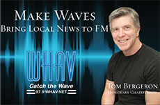 "Click to Donate to WHAV's ""Make Waves"" campaign online. The new FM radio station is dependent on you. Thank you for your generosity and support."