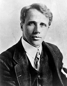 Robert Frost in 1910.