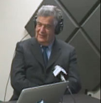 Haverhill Mayor James J. Fiorentini during the Open Mike Show.