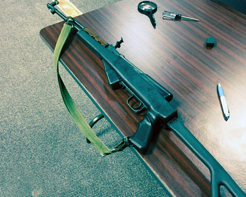 AK47 assault rifle seized by Haverhill Police and Alcohol, Tobacco and Firearms (ATF) agents.
