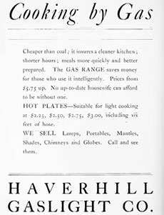 A 1905 gas company advertisement.