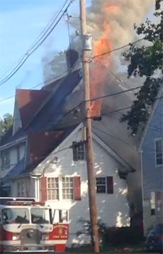 Scene of Saturday's fire at 251 South Main St.