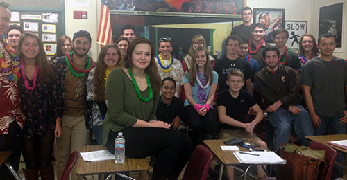 Students of of an Advanced Placement (AP) U.S. Government class at the high school are organizing the school committee debate.