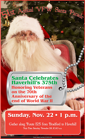 This year's VFW Santa Parade is scheduled to take place Sunday, Nov. 22, at 1 p.m.