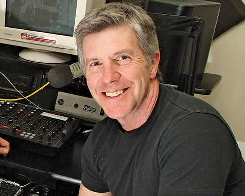 Tom Bergeron takes part in WHAV's 60th anniversary broadcast.