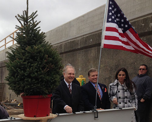 Haverhill City Councilors William J. Macek and Colin F. LePage and state Rep. Diana Dizoglio.