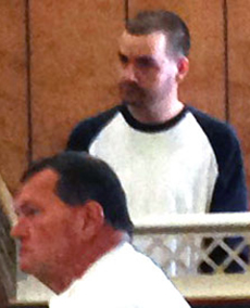 Matthew Church, 33, of Georgetown, at his arraignment in Haverhill District Court.
