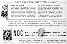 An NBC advertisement soliciting business from independent radio stations.