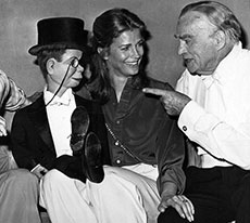 Charlie McCarthy and Candice and Edgar Bergen.