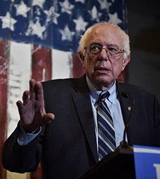 Democratic candidate U.S. Sen. Bernie Sanders.