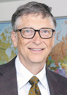 Microsoft founder Bill Gates. (Photograph by DFID - UK Department for International Development.)