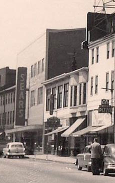 Elite Bowling was nestled tightly in a block between Sears and Al's Pizza on Water Street before urban renewal.