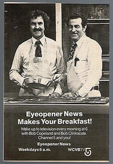 WCVB Anchor and WHAV Alumnus Bob Clinkscale in a 1979 advertisement.