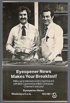 WCVB Anchor and WHAV Alumnus Bob Clinkscale in a 1979 advertisement.