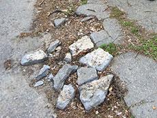 Haverhill sidewalk in disrepair.