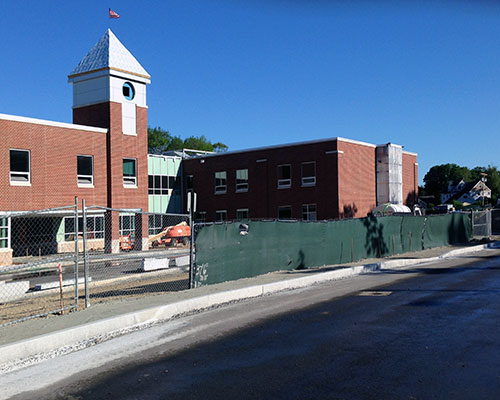 The new Hunking School continues to rise, with an initial opening planned by next January.