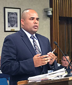 Haverhill Purchasing Agent and Energy Manager Orlando Pacheco advocated for the high school solar project.