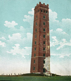 It took three tries and 200 pounds of dynamite to bring down Tilton Tower.