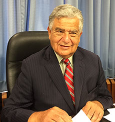 Haverhill Mayor James J. Fiorentini during a recent school committee meeting. (WHAV News photograph.)