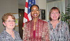 Haverhill Cultural Council Officers Officers, from left, Ruby Lyons, treasurer; Letriah Masters, chair; and Alison Colby-Campbell, secretary.