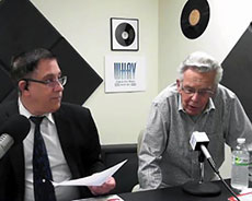 Tim Coco, hosting WHAV's Open Mike Show, with guest Ken Smith.