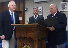 From left to right, council President John A. Michitson, former City Councilor Kenneth E. Quimby Jr. and Councilor Joseph J. Bevilacqua.