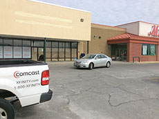 Future Comcast office at Methuen Plaza. (Frank Komola photograph.)