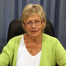 Haverhill School Committee President Gail M. Sullivan is one of the panelists. (WHAV News photograph.)