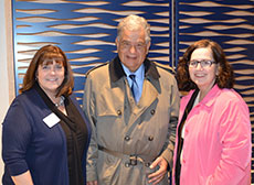 Greater Haverhill Chamber of Commerce President Beverly Donovan, Mayor James J. Fiorentini and City Council Vice President Melinda E. Barrett. (Courtesy photograph.)