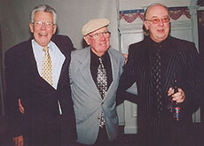 The late Kendall C. Smith, Charlie Elliott and Russ Conway. (From the collection of Russ Conway.)