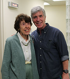 Pat Johnson and Tom Bergeron. (Cindy Driver photograph for WHAV News.)
