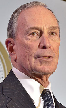 Michael Bloomberg, 108th mayor of New York City.