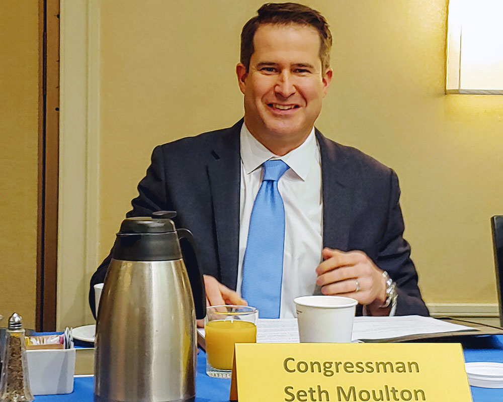 U.S. Rep. Moulton Seeks Federal Money to Add Six Miles of Double Track on Haverhill Rail Line