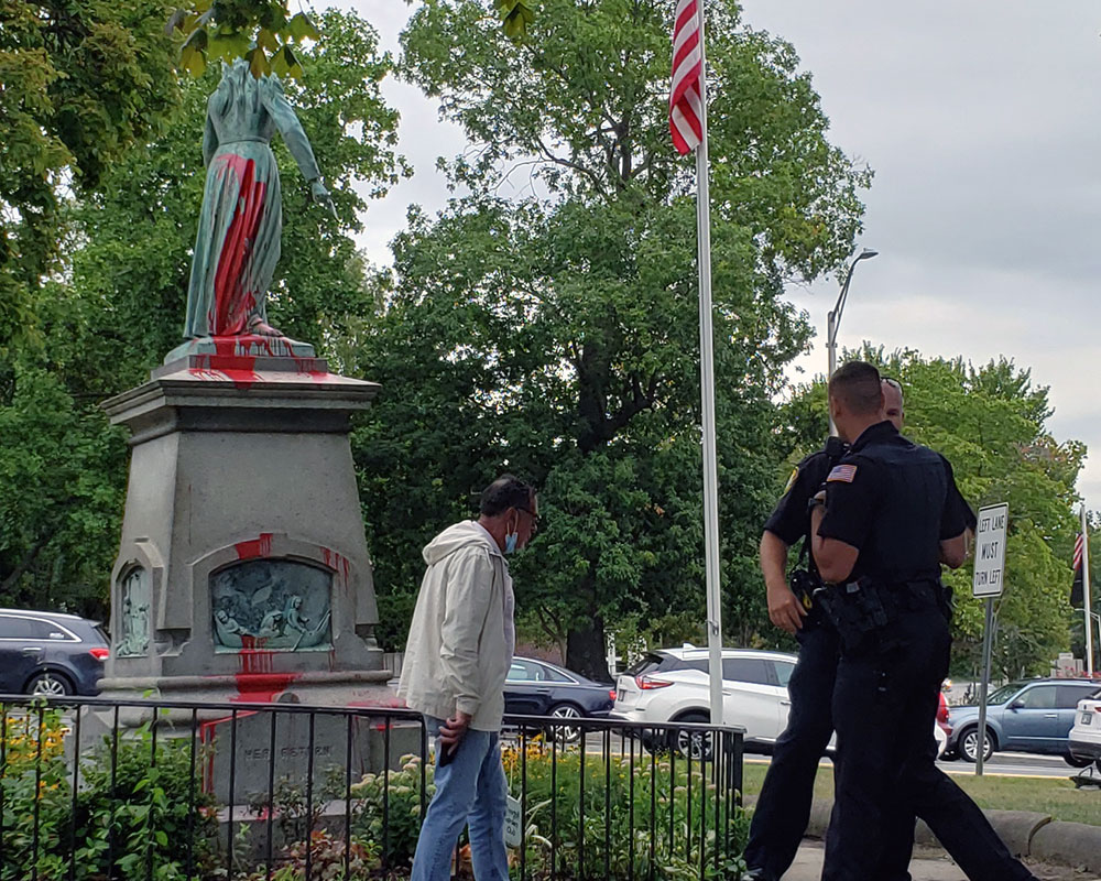 Fate of Haverhill's Controversial Hannah Duston Statue Downtown Could be Decided Tonight