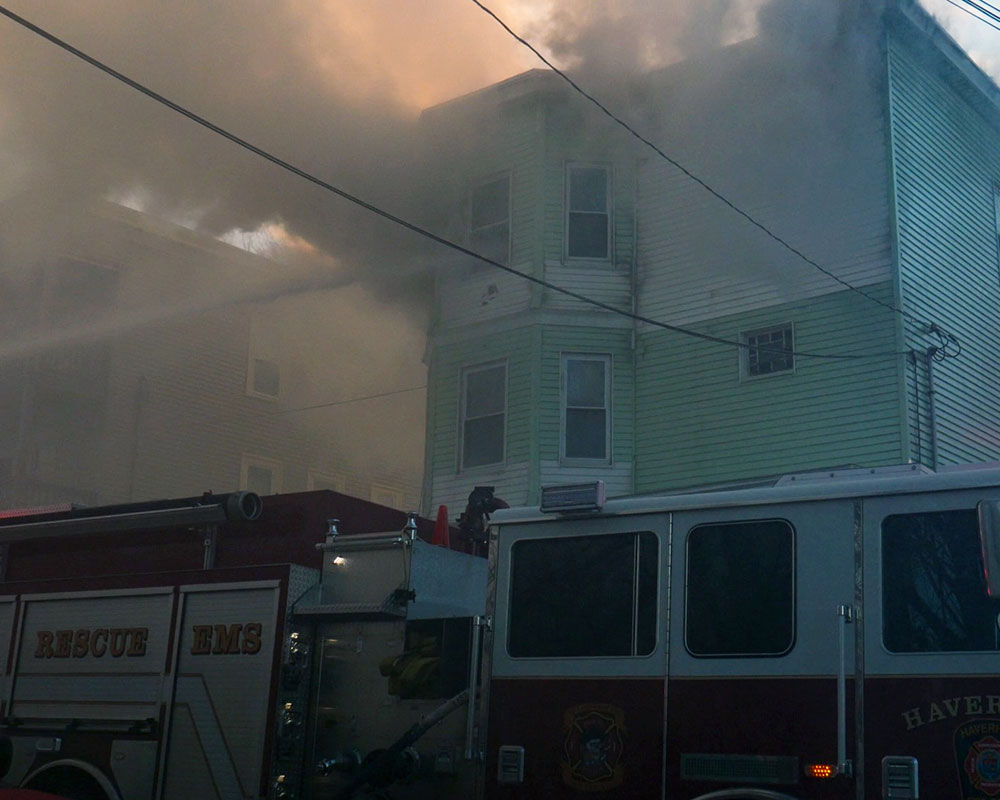 Haverhill Firefighters Battle Two-Alarm Fire at Victor Street Multi-Family Home