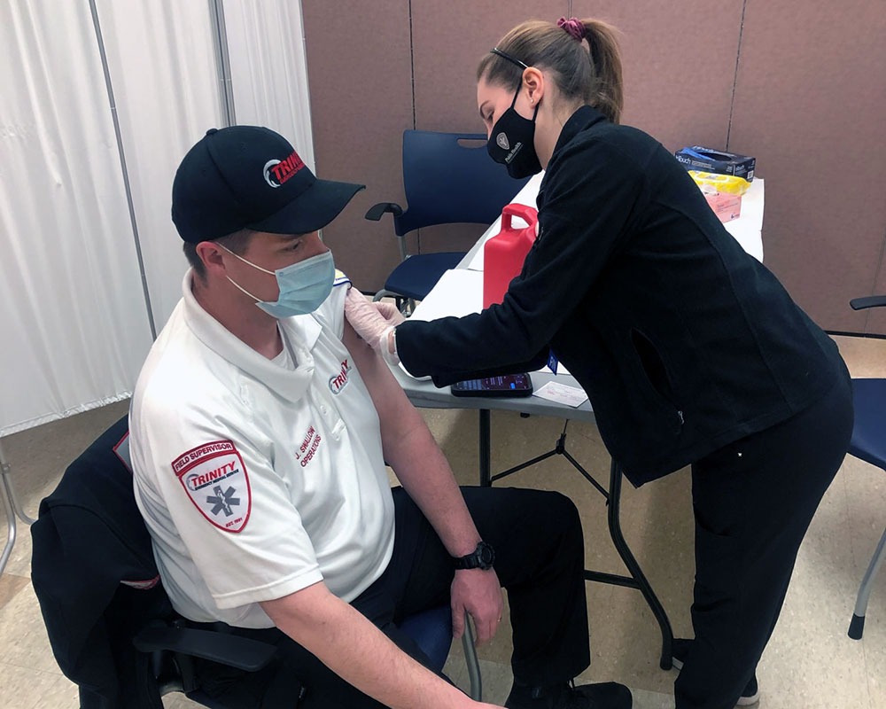 Trinity EMS Provides Three COVID-19 Vaccine Clinics for First Responders This Week