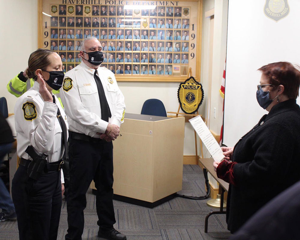 Haverhill Police Dept. Promotes Fogarty to Lieutenant and Anderson to Sergeant