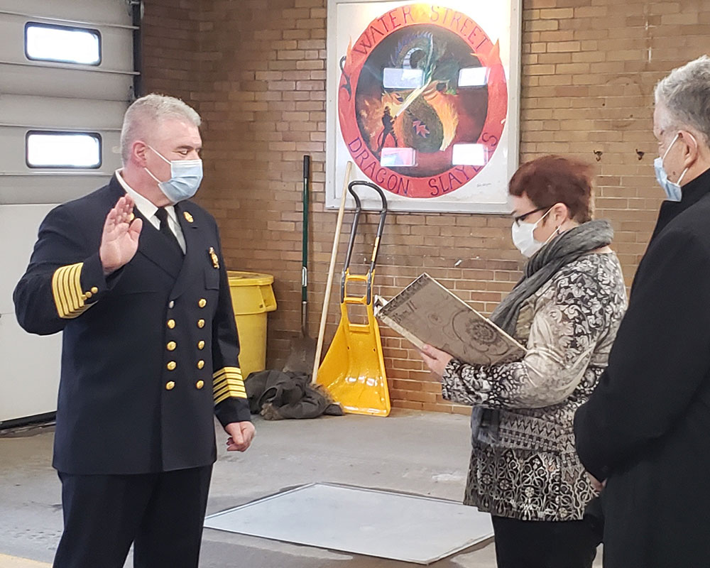 O'Brien Officially Becomes Haverhill Fire Chief; Pledges Forward Progress at Ceremony