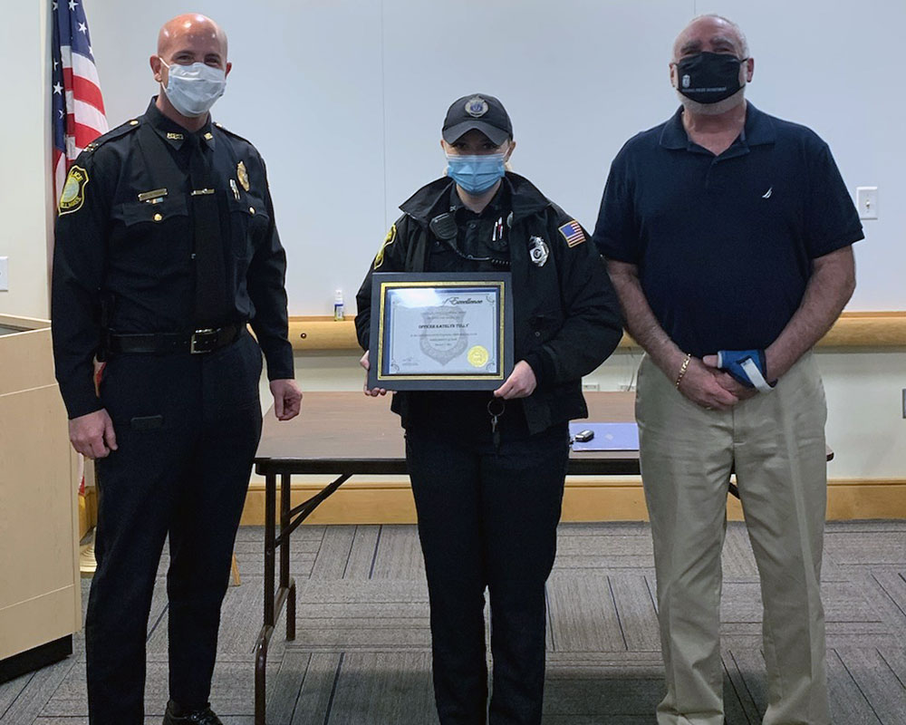 Haverhill Police Dept. Honors Officer Tully for Bringing Order to 'Very Chaotic' Crime Scene