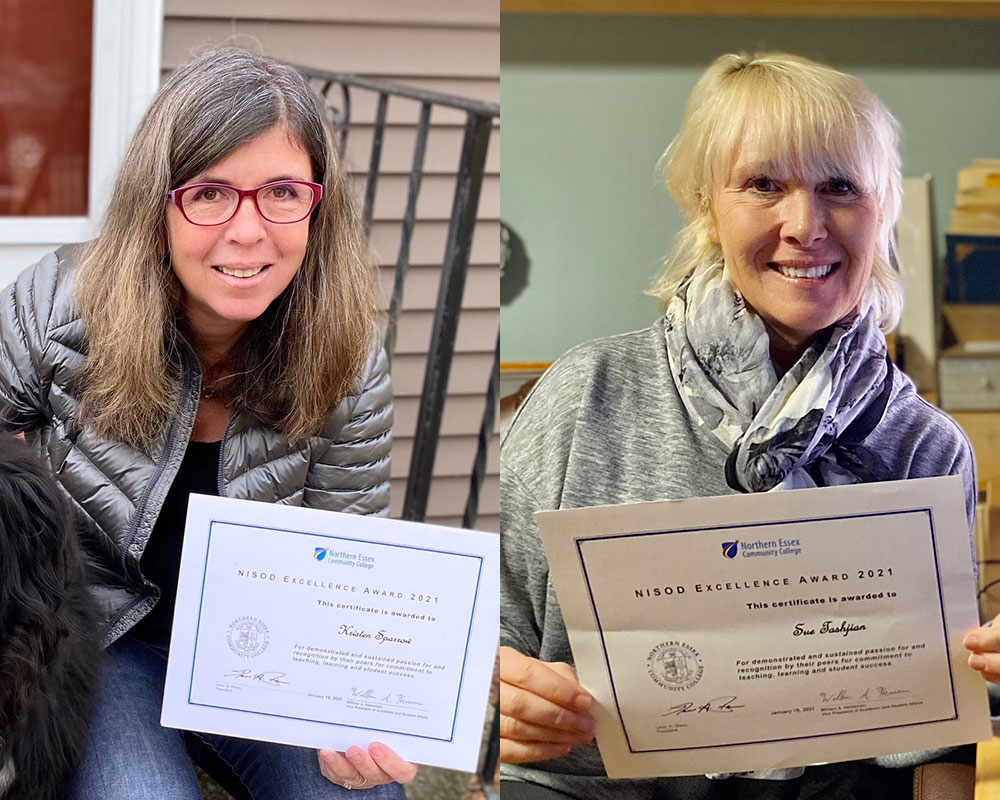 Sparrow and Tashjian Receive National Excellence Awards for Work at Northern Essex