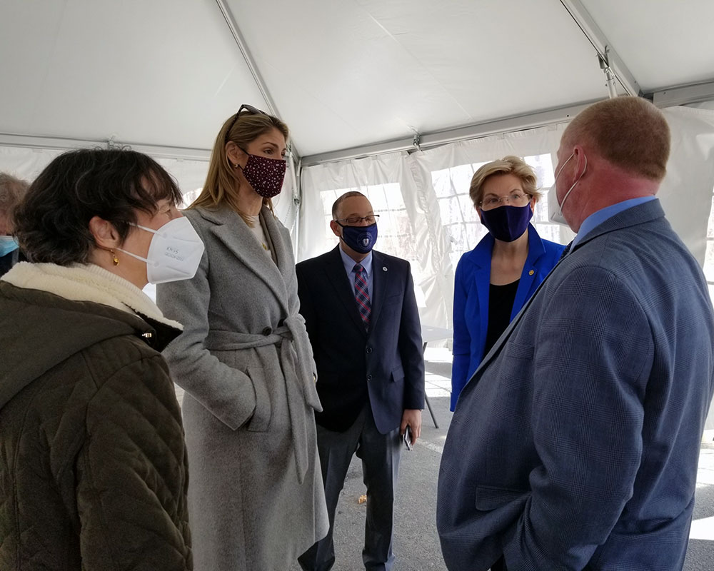 U.S. Sen. Warren Questions Reopenings, Warning COVID-19 Could 'Come Back and Bite Us'