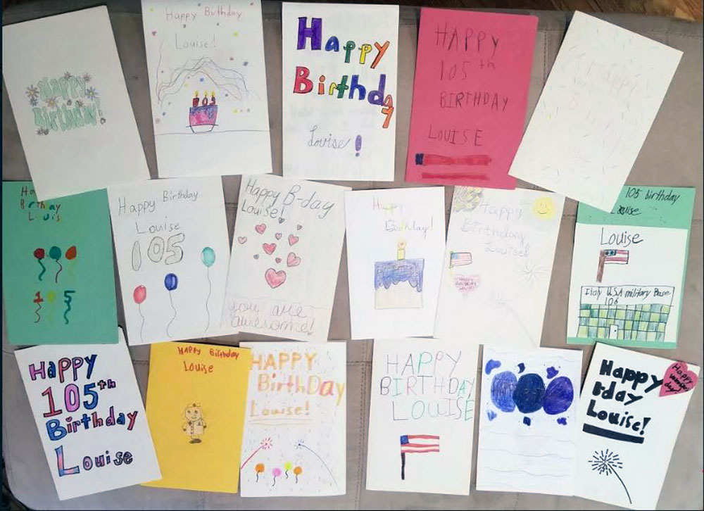 Sacred Hearts School Students Craft Birthday Cards for 105-Year-Old Army Veteran