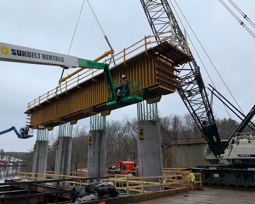 I-495 Construction Update: Steel Beams Continue Crossing the Merrimack with Some Traffic Delays